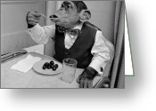Black Tie Greeting Cards - Cherry Chimp Greeting Card by Vecchio