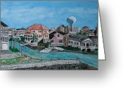 South Carolina Beach Painting Greeting Cards - Cherry Grove Greeting Card by Mike Crump