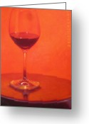 Wine Cellar Greeting Cards - Cherry Spice Greeting Card by Penelope Moore
