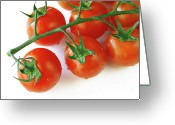 Eat Greeting Cards - Cherry Tomatoes Greeting Card by Carlos Caetano