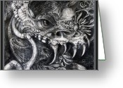 Otto Rapp Drawings Greeting Cards - Cherubim Of Beasties Greeting Card by Otto Rapp