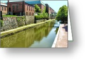 Cities Greeting Cards - Chesapeake and Ohio Canal I Greeting Card by Steven Ainsworth