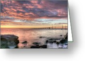Point State Park Greeting Cards - Chesapeake Splendor  Greeting Card by JC Findley