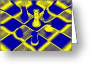 Chess Piece Greeting Cards - Chess Greeting Card by David Harding