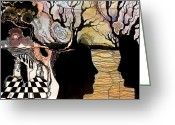 Chess Pieces Greeting Cards - Chess Game Greeting Card by Valentina Plishchina