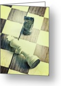 Parlor Greeting Cards - Chess Greeting Card by Joana Kruse