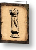 Game Piece Greeting Cards - Chess King Greeting Card by Tom Mc Nemar