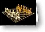 Chess Pieces Greeting Cards - Chess Greeting Card by Michael Peychich