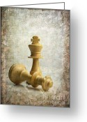 Figurine Greeting Cards - Chess pieces Greeting Card by Bernard Jaubert