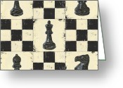 Chess Game Greeting Cards - Chess Pieces Greeting Card by Debbie DeWitt