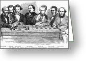 Riviere Greeting Cards - Chess Players, 1855 Greeting Card by Granger