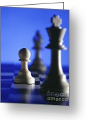 Chess Game Greeting Cards - Chess Greeting Card by Tony Cordoza
