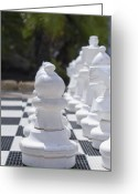 Chess Piece Greeting Cards - Chess Greeting Card by Design Windmill
