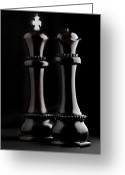Queen Greeting Cards - Chessmen I Greeting Card by Tom Mc Nemar
