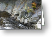 Western Massachusetts Greeting Cards - Chesterfield Gorge In Autumn Greeting Card by Smilin Eyes  Treasures