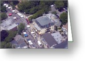 Germantown Photo Greeting Cards - Chestnut Hill Home and Garden Festival Chestnut Grill 8229 Germantown Ave Philadelphia PA 19118 Greeting Card by Duncan Pearson