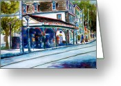 Center City Painting Greeting Cards - Chestnut Hill Station Greeting Card by Joyce A Guariglia