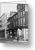 South Philadelphia Photo Greeting Cards - Chestnut Street - South Side of Philadelphia - c 1870 Greeting Card by International  Images