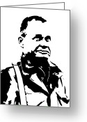 Marine Corps Greeting Cards - Chesty Puller Greeting Card by War Is Hell Store
