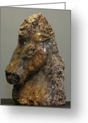 Cave Sculpture Greeting Cards - Cheval Greeting Card by Ken Hall