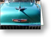 Transportation Greeting Cards - Chevrolet Bel-Air . Blue . 7D12850 Greeting Card by Wingsdomain Art and Photography