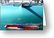 Transportation Greeting Cards - Chevrolet Bel-Air . Blue . 7D12851 Greeting Card by Wingsdomain Art and Photography