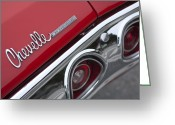 Chevrolet Chevelle Greeting Cards - Chevrolet Chevelle SS Taillight Emblem 2 Greeting Card by Jill Reger
