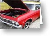 Collectors Car Greeting Cards - Chevrolet Chevy Impala SS 7d15136 Greeting Card by Wingsdomain Art and Photography