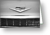 Monochrome Hot Rod Greeting Cards - Chevrolet Emblem Greeting Card by Chalet Roome-Rigdon