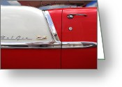 Hot Rod Greeting Cards - Chevy Belair Classic Trim Greeting Card by Mike McGlothlen