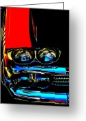 Vehicles Digital Art Greeting Cards - Chevy Greeting Card by Gwyn Newcombe