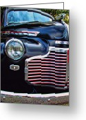 Ron Roberts Photography Prints Greeting Cards - Chevy Hot Rod Greeting Card by Ron Roberts
