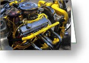Big Block Chevy Greeting Cards - Chevy Motorcycle Greeting Card by David Lee Thompson