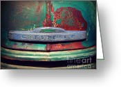 Chrome Grill Greeting Cards - Chevy Rust Greeting Card by Perry Webster