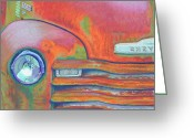Trucks Greeting Cards - Chevy Rust Greeting Card by Tracy L Teeter