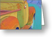 Cowboy Pastels Greeting Cards - Chevy Summer Greeting Card by Tracy L Teeter