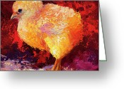 Soft Painting Greeting Cards - Chic Flci III Greeting Card by Marion Rose