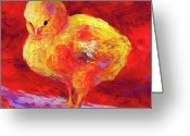 Chic Painting Greeting Cards - Chic Flic VII Greeting Card by Marion Rose