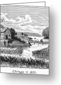 1833 Greeting Cards - Chicago, 1833 Greeting Card by Granger