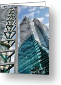 Tall Buildings Greeting Cards - Chicago - A Sophisticated Finance Hub Greeting Card by Christine Till