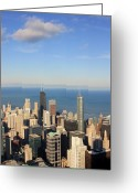 Aerial View Greeting Cards - Chicago Aerial View Greeting Card by Luiz Felipe Castro