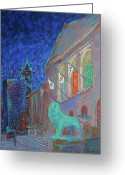 Chicago Artist Greeting Cards - Chicago Art Institute Greeting Card by J Loren Reedy