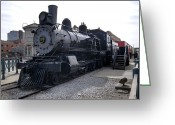 710 Greeting Cards - Chicago Burlington Quincy Steam Locomotive 710 Greeting Card by Paul Cannon