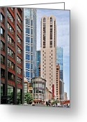 Chicago Landmarks Greeting Cards - Chicago - Goodman Theatre Greeting Card by Christine Till