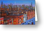 Chicago Artist Greeting Cards - Chicago Is Neighborhoods Greeting Card by J Loren Reedy