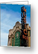 Music Box Greeting Cards - Chicago Music Box theater Greeting Card by Patrick  Warneka