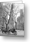 Black And White Canvas Greeting Cards - Chicago Photography - Black and White Greeting Card by Horsch Gallery