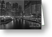 Riverwalk Greeting Cards - Chicago Riverwalk Greeting Card by Eddie Yerkish