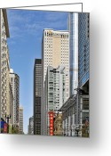 Landmarks Of Usa Greeting Cards - Chicago State Street - That great street Greeting Card by Christine Till