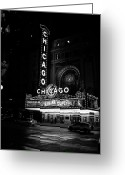 Batman Greeting Cards - Chicago Theater Greeting Card by Will Teer